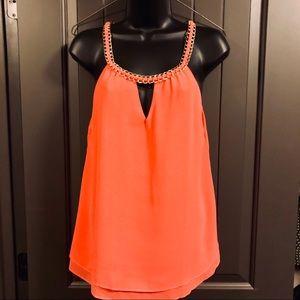 Mine - Chain collar, Salmon / Orange, Double layer
